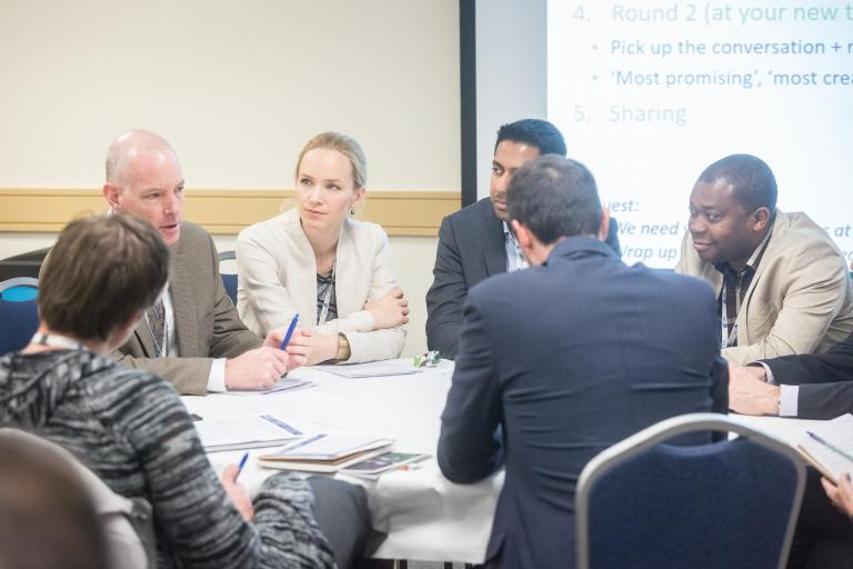 Table discussions at the Global Sustainability Standards Conference © ISEAL Alliance